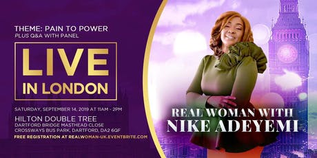 Real Woman with NIKE ADEYEMI tickets