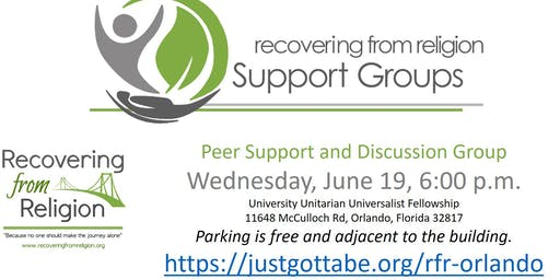 Recovering From Religion Peer Support and Discussion Group