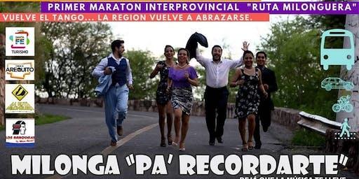 Maraton Milonguera Dia del Amigo en Arequito