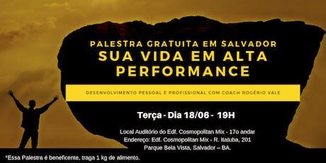 Palestra - Sua Vida em Alta Performance  ingressos