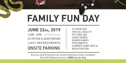 Family Fun Day - Saturday, June 22, 2019