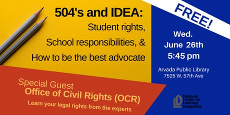 504s and IDEA: Your Student's Rights and How to Advocate For Them tickets