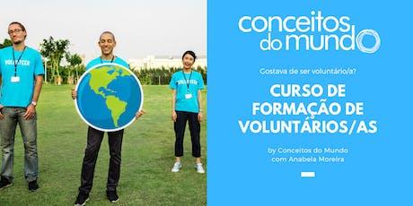 1º Curso de Formação de Voluntários/as by Conceitos do Mundo ingressos