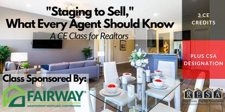 Staging to Sell   CE Class for Realtors tickets