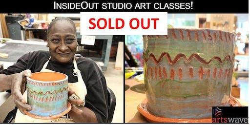 InsideOut Studio July Art Class/ Ceramic Flower Pot