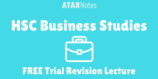 [Sold Out] Business Studies - FREE Trial Revision Lecture