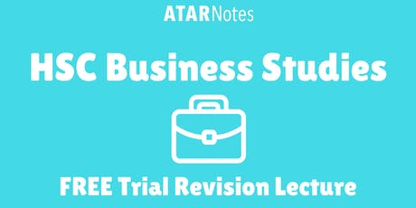 Business Studies - FREE Trial Revision Lecture (Repeat 1) tickets