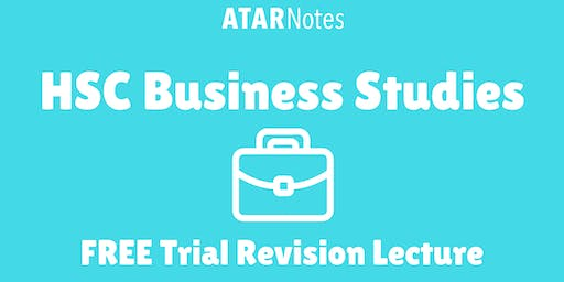 [Sold Out] Business Studies - FREE Trial Revision Lecture (Repeat 1)