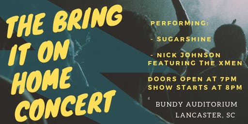 """Bring It On Home"" Concert Series:  Sugarshine/Nick Johnson & The XMen"