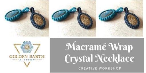 Macramé Wrap Crystal Necklace