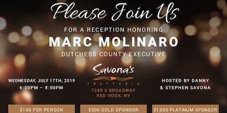 Reception Honoring Marc Molinaro at Savona's tickets