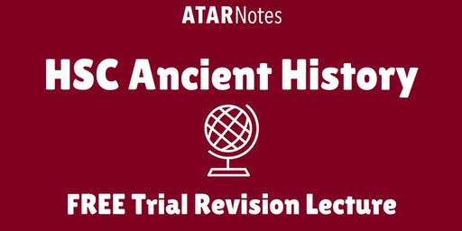 [Sold Out] Ancient History - FREE Trial Revision Lecture