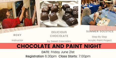 Chocolate and Painting Night tickets