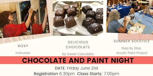 Chocolate and Painting Night