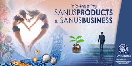 """Infoveranstaltung Geschäftspräsentation """"SANUSPRODUCTS und SANUSBUSINESS"""" Tickets"""