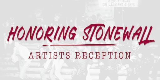 Honoring Stonewall Artists Reception