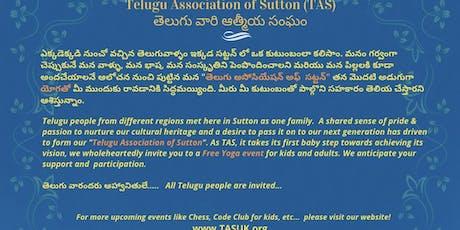 Telugu Association of Sutton - TAS,UK Yoga event tickets