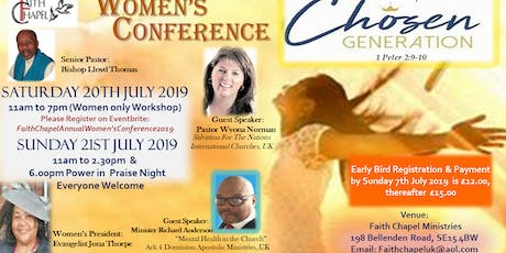Faith Chapel Annual Women's Conference 2019 tickets