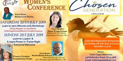 Faith Chapel Annual Women's Conference 2019