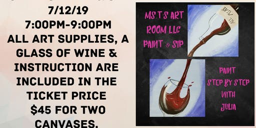 Canvas Paint &Sip For Two