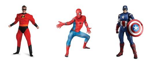 Spiderman, Mr. Incredible, Captain America Free Character Meet & Greets