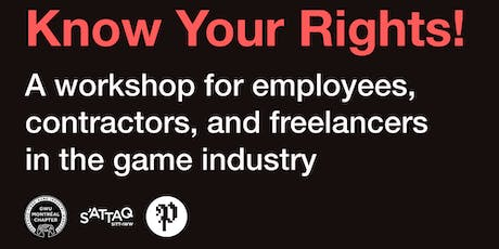 Workshop: Know Your Rights! | Quels sont mes droits? tickets