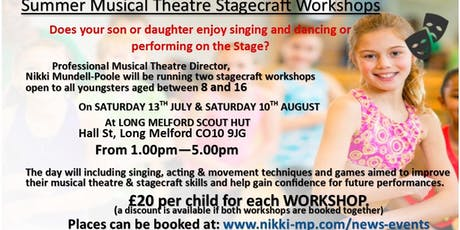 Musical Theatre stagecraft Workshops tickets