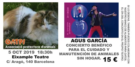 AGUS GARCÍA - Concierto Benéfico para animales domésticos sin hogar. entradas