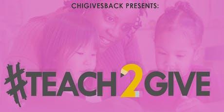 #Teach2Give 2019 tickets