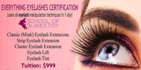 Columbia S.C, School of Glamology: Everything Eyelashes or Classic (mink) Eyelash Certification tickets