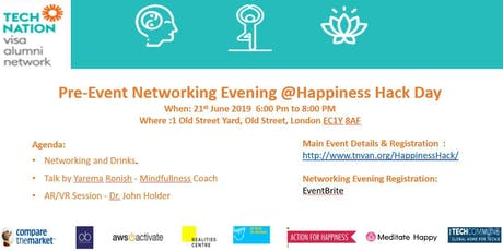 Pre-Event Networking hours -Happiness Hack day by TNVA tickets