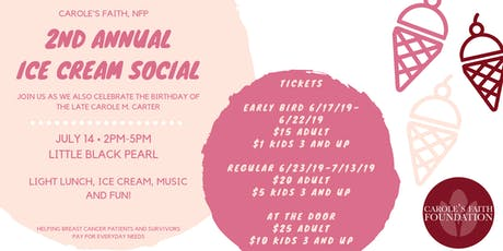 2nd Annual Ice Cream Social tickets