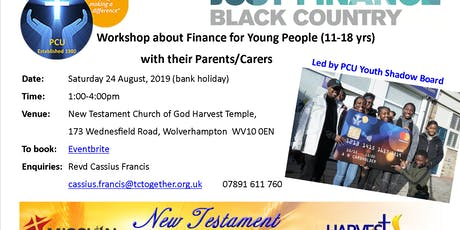 Workshop about Finance for Young People (11-18 yrs) with their Parents/Carers tickets