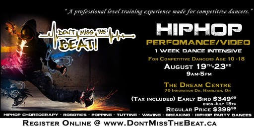 Don't Miss The Beat Hip-hop Dance Intensive