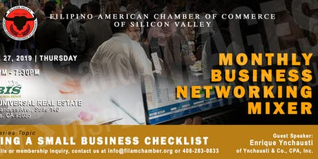 FilAm Chamber's Monthly Business Mixer June272019 tickets
