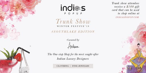 Indiaspopup.com Presents Trunk Show Winter/Festive'19 Southlake Edition