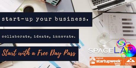 SpaceLab Detroit StartUp Week Day Pass tickets