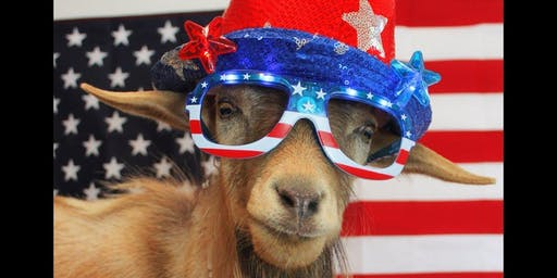 Independence Day Goat Yoga! - Thurs, July 4 @ 5:30PM
