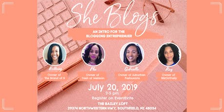 She Blogs: An Intro for the Blogging Entrepreneur tickets