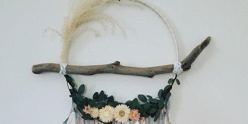 Boho Floral Hoop Wreath DIY Workshop