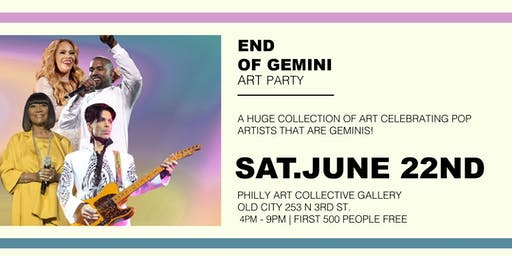 FREE EVENT : Gemini Art Party
