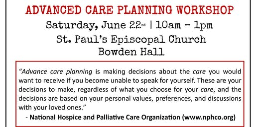 Advanced Care Planning Workshop