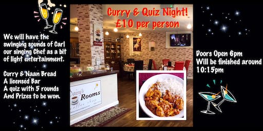 Curry & Quiz With The Singing Chef Night