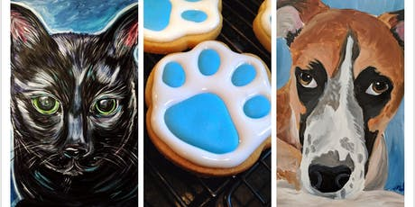 July Cookies and Canvases: Paint your Pet tickets
