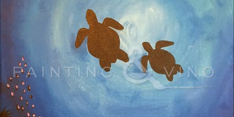 """Sea Turtles"" Painting & Vino Art Class tickets"