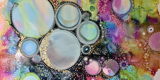 2 DAY BUBBLES ALCOHOL INK EVENING WORKSHOP