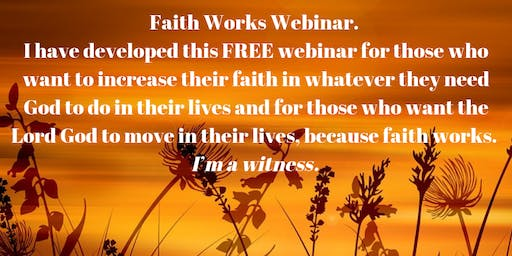 Faith Works Webinar