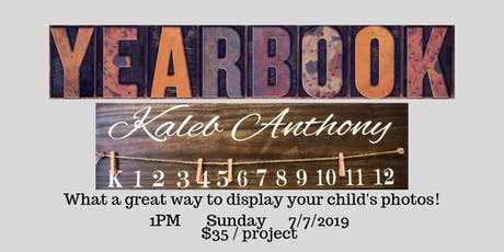 Child Photo Wood Sign tickets