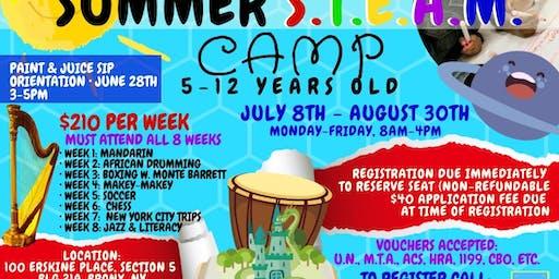 Summer S.T.E.A.M. Juice Sip & Paint