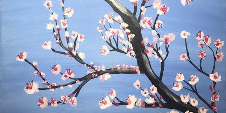 """Cherry Blossoms"" Painting & Vino Art Class tickets"